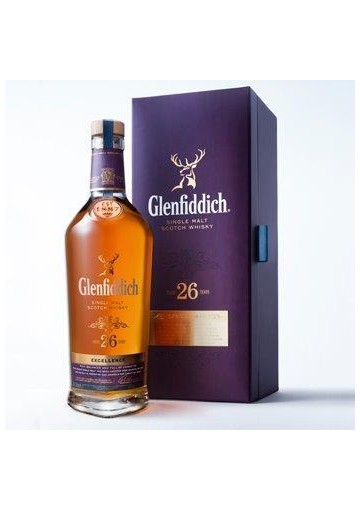 WHISKY GLENFIDDICH EXCELLENT 26 AÑOS 70CL.