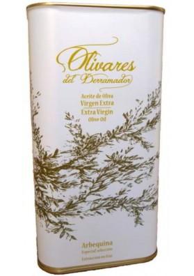 aceite-olivares-derramador-ARBEQUINA-LATA-1L