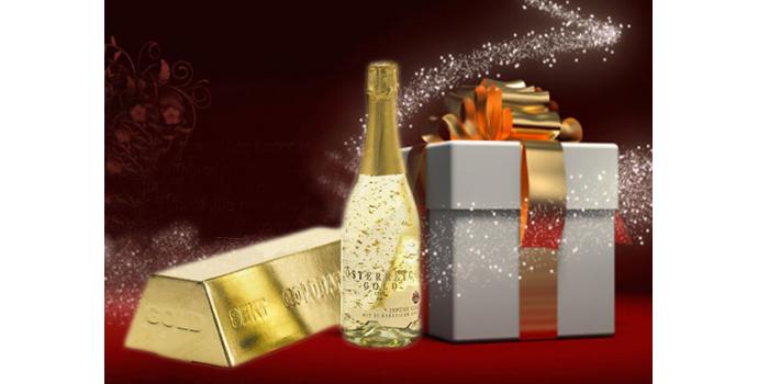 Champagne con oro, Austria Gold champagne